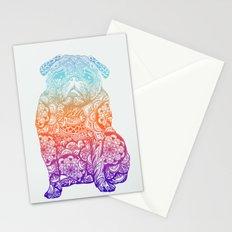 Mandala Pug  Stationery Cards