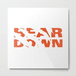 Bear Down Metal Print