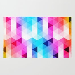Abstract Triangle Colorful Rug