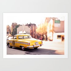 it was a yellow cab... Art Print