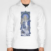 hallion Hoodies featuring Galadriel Nouveau by Karen Hallion Illustrations