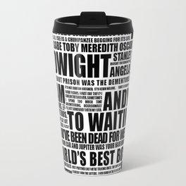 The Office B&W Travel Mug