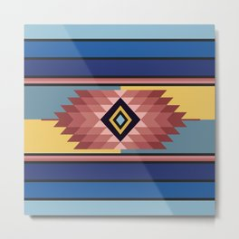 American Native Pattern No. 127 Metal Print