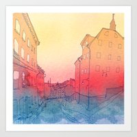 stockholm Art Prints featuring Stockholm by Jonas Ericson