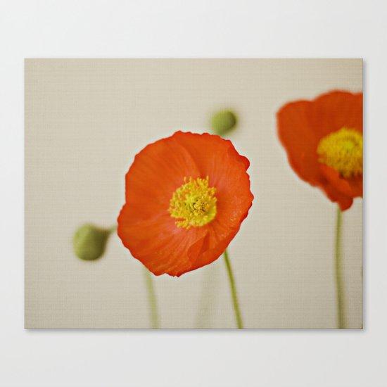 Poppy Flower Red Orange Yellow Bloom Canvas Print