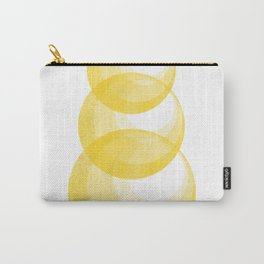 Miminalist Golden Circles Abstract Carry-All Pouch