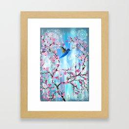Hummingbird Design Framed Art Print