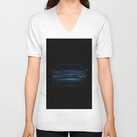muscle V-neck T-shirts featuring American Muscle by Devereaux Arts