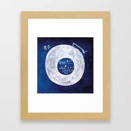 you are what you listen to, BLUE Framed Art Print