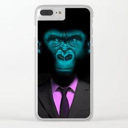 Monkey Suit Clear iPhone Case