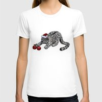 snow leopard T-shirts featuring Snow Leopard by Anna Shell