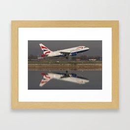 British Airways A318 Framed Art Print