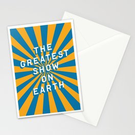 The Greatest Show on Earth Stationery Cards