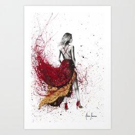Fashion Gold Art Print