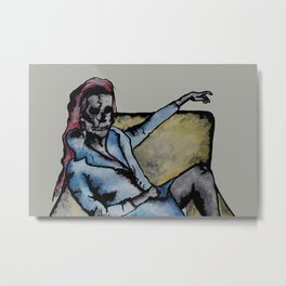 Skull Lady  Metal Print