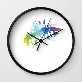 EDM Electronic Dance Music Party  Wall Clock