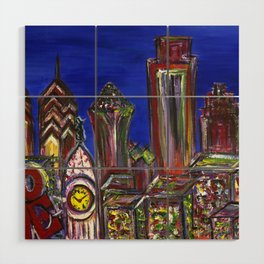 Philly Skyline LOVE Wood Wall Art