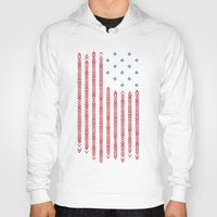 patriots Hoodies featuring Native Patriots by Steven Toang