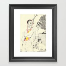 Gucci Mane with French Bulldogs Framed Art Print