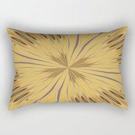 Yellow and Ochre Flower Pattern Abstract 2 Rectangular Pillow