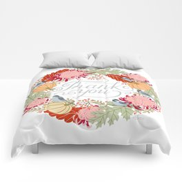 Thanksgiving thank you card Comforters