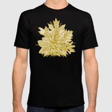 forest floor gold ivory MEDIUM Black Mens Fitted Tee