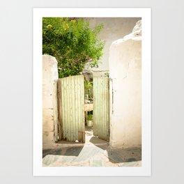 Through the Green Gate Art Print