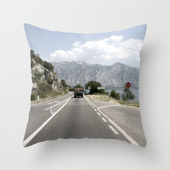 Perast Montenegro Throw Pillow