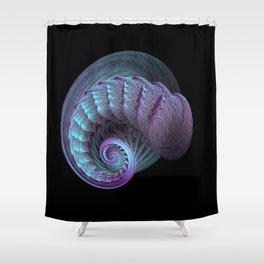 3D Fractal Spiral Shower Curtain