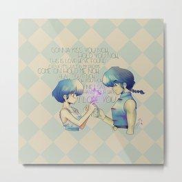 It's Love! PANIC - Ranma Metal Print