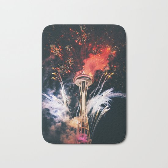 Seattle Space Needle Celebration Bath Mat