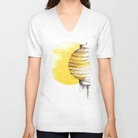 lantern V-neck T-shirts featuring Lantern by Emma Stein