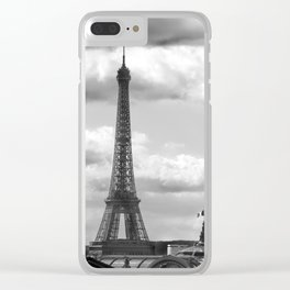 Eiffel Tower from rooftop of Galeries Lafayette Clear iPhone Case
