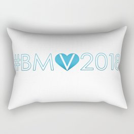 #BMV2018 Blu Rectangular Pillow