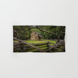 Oliver Log Cabin in Cade's Cove Hand & Bath Towel