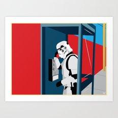 Stormtrooper Phone Home Art Print