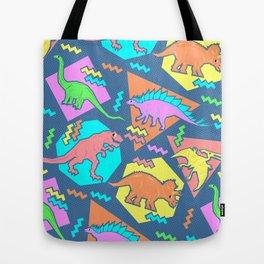 Nineties Dinosaur Pattern Tote Bag