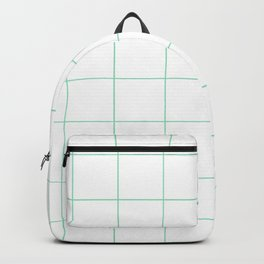Graph Paper (Mint & White Pattern) Backpack