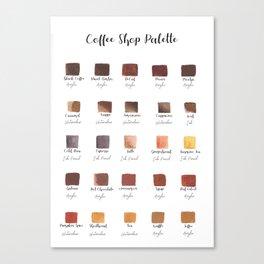 Coffee Shop Palette Canvas Print