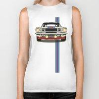 martini Biker Tanks featuring Martini Mustang by Marius Dumitrascu