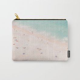 Aerial Beach Summer Bliss - Elegant Minimal Beach People - Ocean - Sea Photography by Ingrid Beddoes Carry-All Pouch