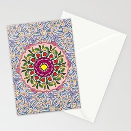 Garden Party Doodle Art Stationery Cards