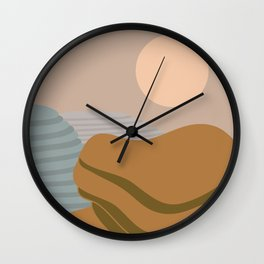 Terraced fileds Wall Clock