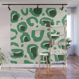 Leopard Skin Inspire Pattern Green Wall Mural