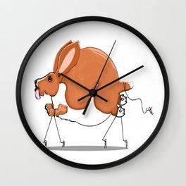 Basset on Parade Wall Clock