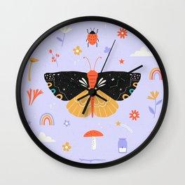 Magic butterfly Pattern Wall Clock