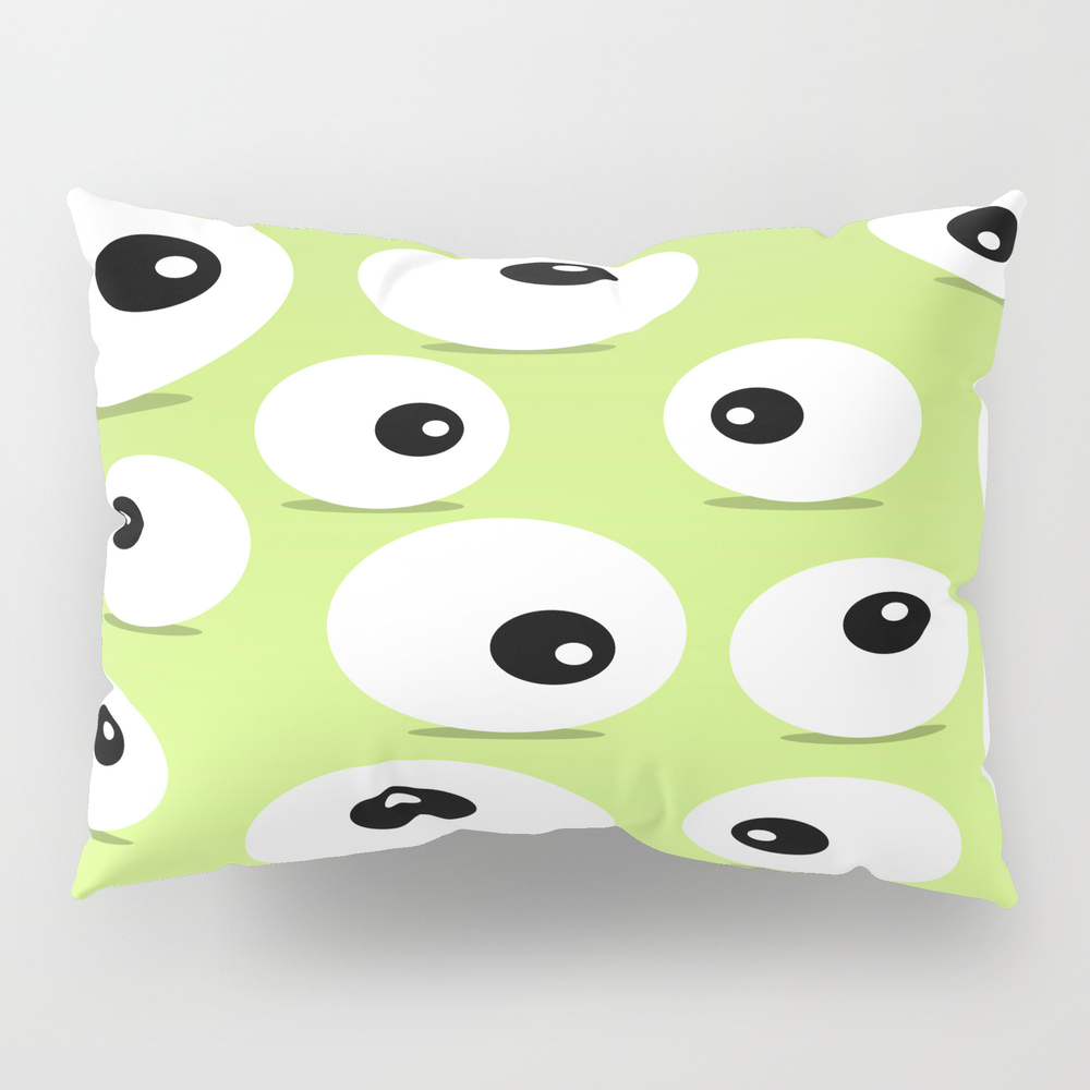 Eyeballs For Halloween Pillow Sham by Rosequeen PSH7792704