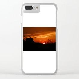 Desert sky Sunset -hermitage Clear iPhone Case