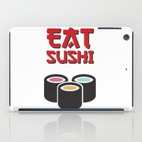 sushi iPad Cases featuring Sushi by flydesign