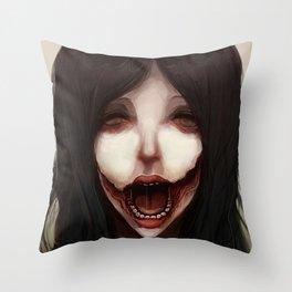 Kuchisake Throw Pillow